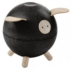 Shop Plan Toys' black wooden piggy bank - we love its sweet circular shape! Kids can practise fine motor skills and maths, while learning about saving money Plan Toys, Cute Piggies, Shop Plans, Toys Shop, Pretend Play, Worlds Of Fun, Fine Motor, Boy Room, Kids Room