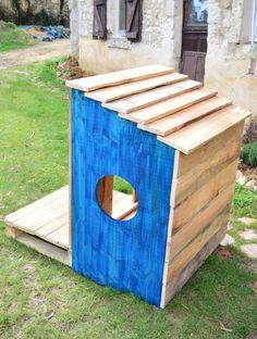 Tuto : construisez une adorable niche pour chien en palettes de bois pour moins de 60 euros