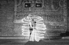 sparkler love (photo by Robyn Van Dyke via heartloveweddings)
