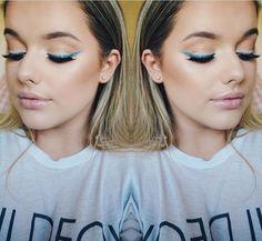 Rachleary | blue glitter eyeliner