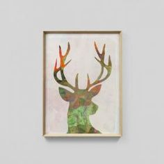 Vibrant Deer | Framed Print | Matthew Thomas