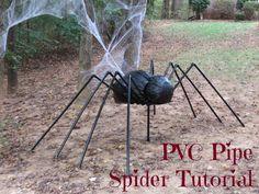 Diy Halloween Spider, Halloween Spider Decorations, Fairy Halloween Costumes, Halloween Projects, Halloween Ideas, Halloween Stuff, Pvc Projects, Homemade Halloween, Halloween Skeletons