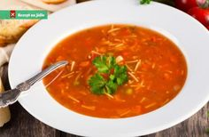 Italská polévka minestrone Tortellini, Bon Appetit, Thai Red Curry, A Table, Good Food, Food And Drink, Soup, Healthy Recipes, Treats