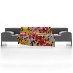 Rosie Brown Blooms Fleece Throw Blanket   DENY Designs Home Accessories  #fleece #blanket #homedecor #bedding #art #denydesigns #denyholiday