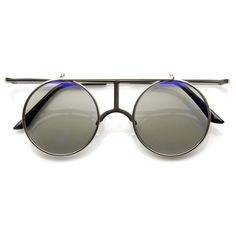 530fd4edea Silver Blue Round Metal Sunglasses