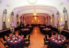 Purple and black ballroom wedding planned by Mershon Event Design at The Mayo Hotel.   Photo by Holli B Photography  #purple #ballroom #wedding