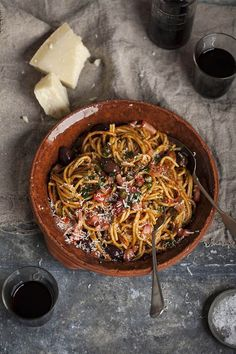 Spaghetti puttanesca is an easy, flavorful and satisfying meal.