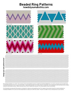 Seed bead jewelry This only links to the graph paper ~ Seed Bead Tutorials Discovred by : Linda Linebaugh Peyote Beading Patterns, Peyote Stitch Patterns, Seed Bead Patterns, Beaded Bracelet Patterns, Loom Beading, Peyote Stitch Tutorial, Color Patterns, Embroidery Patterns, Jewelry Making