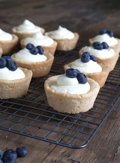 Gluten Free Cookie Cups with No-Bake Cheesecake Filling. ☀CQ glutenfree sweets treats desserts