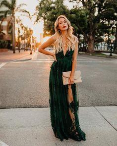 3f6eb7bd91f PREORDER - Antonia Maxi Dress - Hunter Green Velvet Bridesmaid Dresses