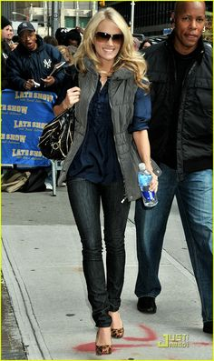 Um, Seriously. She is my celebrity girl crush. (Girl crush as in, I want to dress like her and have her legs.)