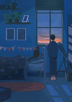 Art Anime, Anime Kunst, Art And Illustration, Aesthetic Art, Aesthetic Anime, Pixel Art, Art Mignon, Panda Art, Cute Couple Art