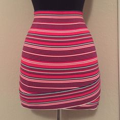 BCBGMAXAZRIA BANDAGE SKIRT Red, white and blue bandage skirt. Size small, never worn. BCBGMaxAzria Skirts Mini