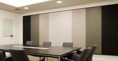 Panel #Ecophon Akusto Wall para mejorar la #acustica de las estancias