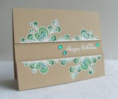 Procraftination: Kraft, bling & embossing - A CASual Friday's card
