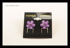 Purple Flowers  Only 1 pair-$2.75  www.facebook.com/mikabellascloset