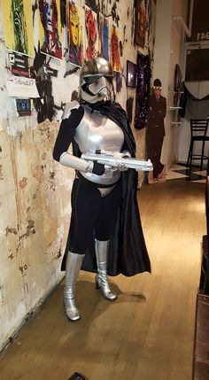 Captain Phasma cosplay This is the first run of my still unfinished costume.