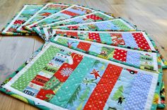 Modern Quilted Christmas Placemats Table by SophieBelleDesigns, €10.00