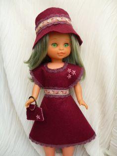 Patrones y tutoriales para la muñeca Nancy Girl Doll Clothes, Doll Clothes Patterns, Doll Patterns, Clothing Patterns, Vestidos Nancy, Nancy Doll, Diy Doll, Crochet, American Girl