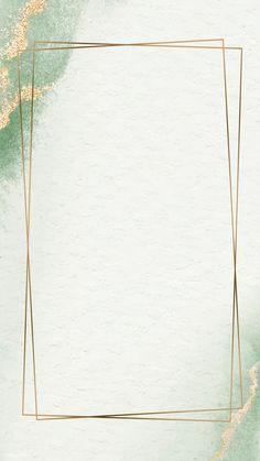 Rectangle Golden Vintage Frame Design Background Mobile Phone Wallpaper Vector 8CE