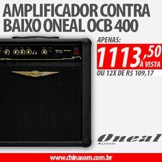Amplificador Combo Contrabaixo 12 Pol 120W Oneal OCB 400 Compre aqui #oneal #contrabaixo #baixo