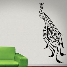 Peacock-Profile-Wall-Sticker-Animal-Wall-Decal-Art