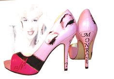 Marilyn Monroe Peep Toe Pumps by SharsShoes on Etsy, $105.00