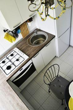 Дизайн интерьера кухни 5 кв.м. - Дизайн интерьеров | Идеи вашего дома | Lodgers Kitchen Box, Cute Kitchen, Kitchen Decor, Small Space Kitchen, Compact Living, Interior Design Living Room, Kitchen Design, Home Appliances, Home Decor