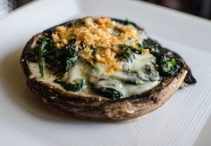 Grilled Portabella Mushroom Stuffed with Creamed Spinach Keto Recipe - Nina Says