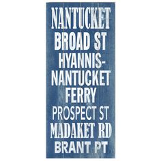 Bring a classic New England touch to your sunroom or entryway with this planked birch wood wall decor, featuring a Nantucket-inspired typographic motif.    ...