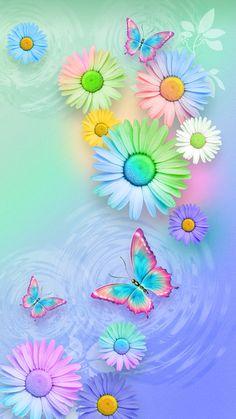 Flower Iphone Wallpaper, Spring Wallpaper, Purple Glitter Wallpaper, Butterfly Wallpaper, Phone Wallpaper Images, Cellphone Wallpaper, Love Wallpapers Romantic, Pretty Wallpapers, App Background