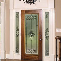 Georgetown decorative glass in a fiberglass #frontdoor.