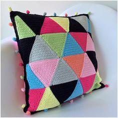 marretjeroos crochet colorful cushion