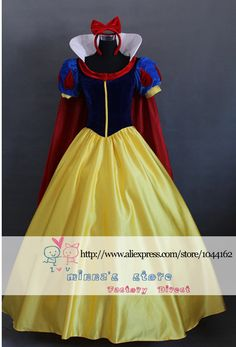Free shipping Adult Custom made Snow White Princess Cosplay Costume For Parties-in Costumes & Accessories from Apparel & Accessories on Aliexpress.com | Alibaba Group