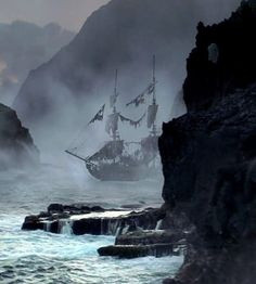Pirates of the Caribbean - The Black Pearl in Pirate's Cove.