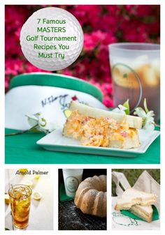 Here are 7 Famous MASTERS Golf Tournament recipes You Must Try!  Next time you are looking for a party idea why not throw a golf party with a theme around the famous Master's golf tournament. Grab your yellow and green decorations, spread around some cute golf equipment and then whip up some of these famous Masters food recipes.