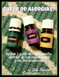 Aceites para ayudar con las alergias