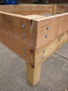 Galvanized lag screws and washers on raised bed by espeedy123, via Flickr