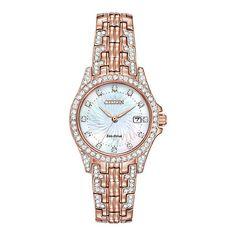 Citizen® Eco-Drive™ Silhouette Crystal Ladies Bracelet Watch f6207e98c