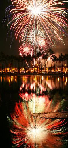 coconuts with fireworks