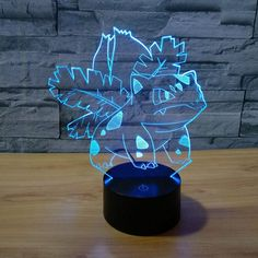 27.00$  Buy here - Newest Pokemon go Venusaur 3D illusion LED lamp acryic 7 color change touch usb decorative nightlight for kids bedroom decorate  #magazineonlinewebsite