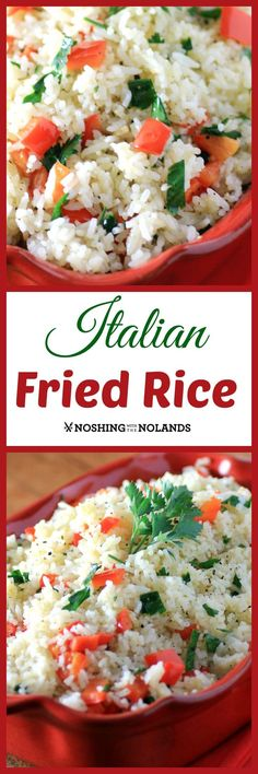 Italian Fried Rice by Noshing With The Nolands, is a great alternative to pasta for your Italian meals.