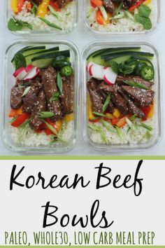 Korean beef bowls make paleo or meal prep easy. Perfect for low carb lunches simple dinners or paleo meals! Korean beef bowls make paleo or meal prep easy. Perfect for low carb lunches simple dinners or paleo meals! Vegetarian Recipes Dinner, Paleo Recipes, Low Carb Recipes, Real Food Recipes, Korean Recipes, Dinner Recipes, Spinach Recipes, Lamb Recipes, Top Recipes
