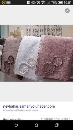 Havlu Towel, Decorative Towels, Crocheting