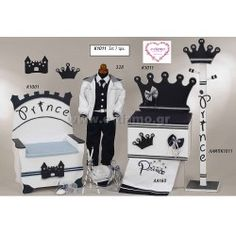 Οικονομικό Σετ Βάπτισης Νονού για Αγοράκι Πρίγκιπας (Σετ 7τμχ)