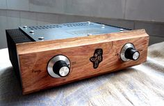 Solid wood panel Manual mini aluminum amplifier enclosure diy amplifier chassis Beautiful desktop aluminium amplifier chassis