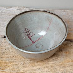 Black Ceramic Tree Cereal Bowl by JuliaSmithCeramics on Etsy