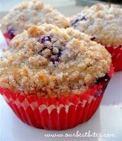 Streusel-Topped Blueberry Muffins - delicious. I  used lemon juice to curdle my milk because I didn't have buttermilk and it gave the muffin a wonderful lemony taste! Perfect breakfast.