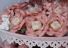 pink and white bridal shower truffle wrappers 10