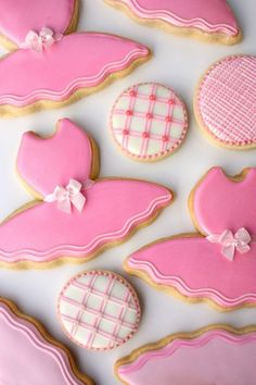 Sweet pink biscuits